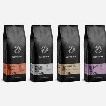 packaging de Algorithm Coffee